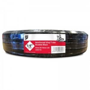30m Reinforced Black Vinyl Tube