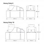 Aspen Heavy Duty 6 Tank Pump dimensions