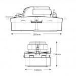 Aspen Max Hi-Flow pump dimensions