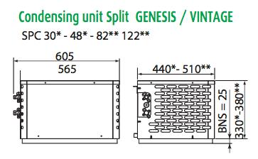 Friax condensing unit dimensions